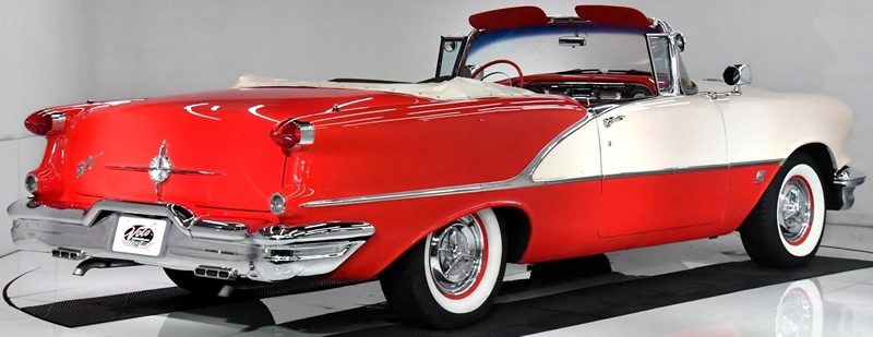rear view of a 1956 Oldsmobile Super Eighty Eight Convertible