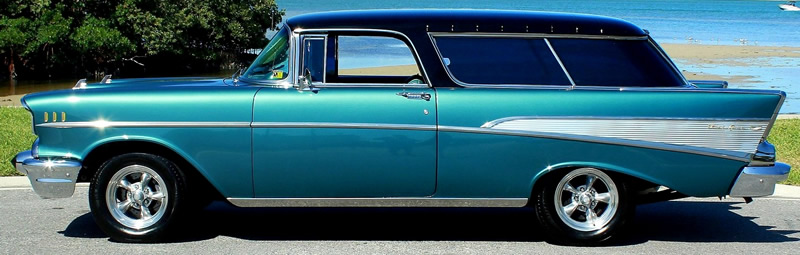 side view of a 57 Nomad