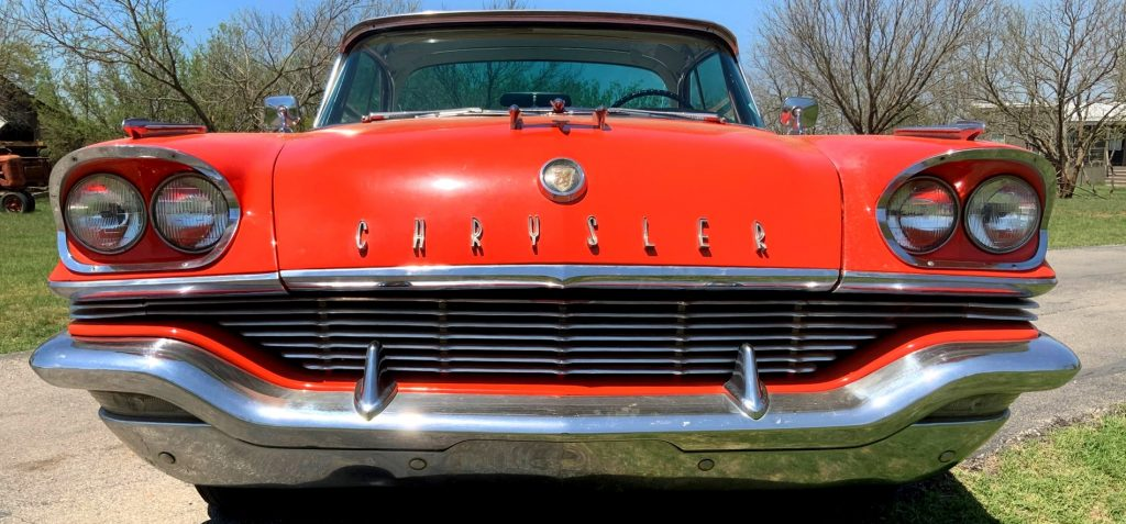 Front view of the 57 Chrysler showing the dual headlights which were new that year