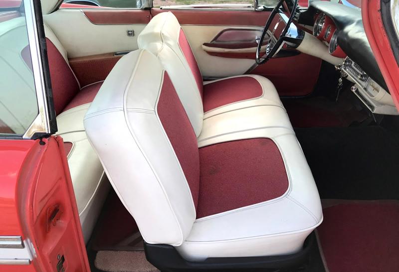 Original interior of a 57 Chrysler