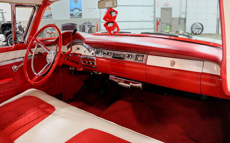 instrument panel / interior of a 57 Ford