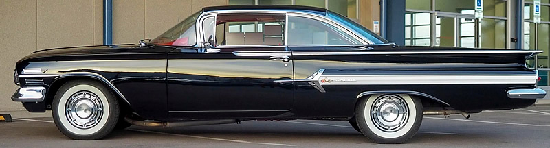 side view of a 1960 Chevy Impala Sport Coupe