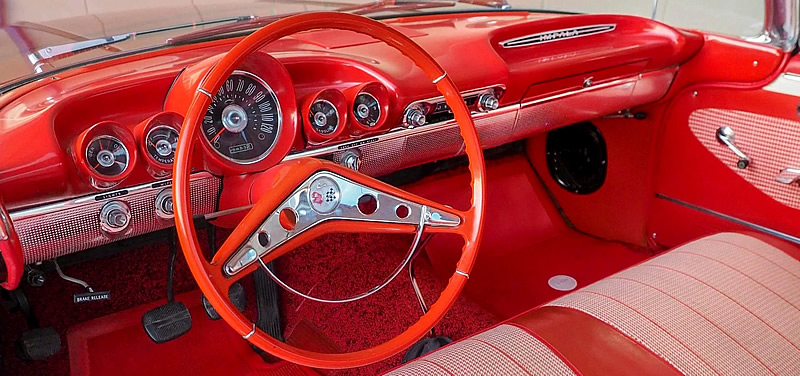 instrument panel inside a 1960 Chevy Impala