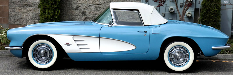 side view of a 1961 Chevrolet Corvette