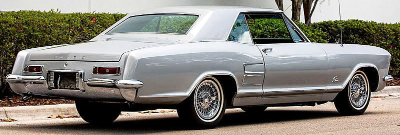 Rear view of a 63 Buick Riviera Sport Coupe