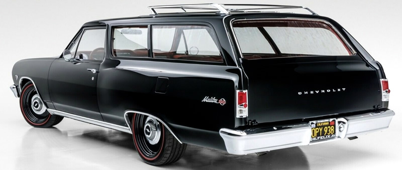 rear view of a 64 Chevy Chevelle station wagon