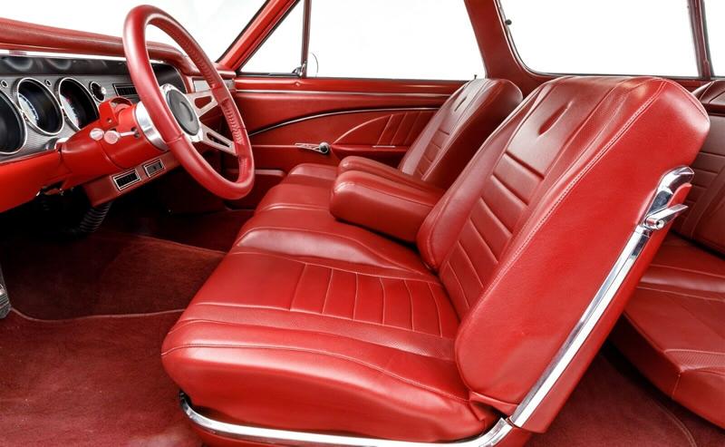 custom interior inside a 1964 Chevelle Restomod