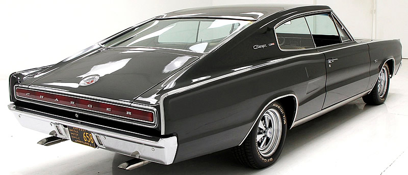 Rear view of the 67 Dodge Charger - fastback design