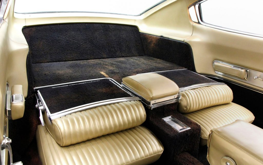 Rear seats down in a 67 Charger