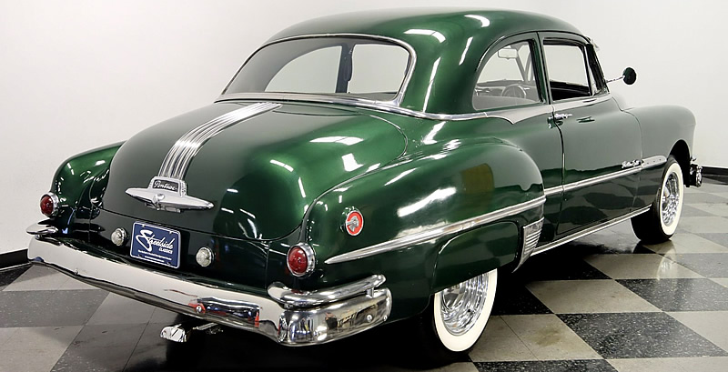Rear view of a Pontiac Chieftain DeLuxe Eight from 1951