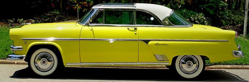 side view of a 1954 Ford Skyliner
