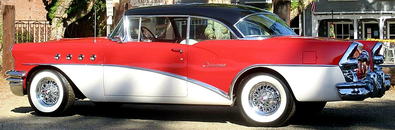 side view showing the 4 ventiports on a 1955 Buick Century