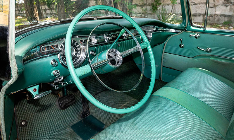 instrument panel / dash of a 1955 Oldsmobile