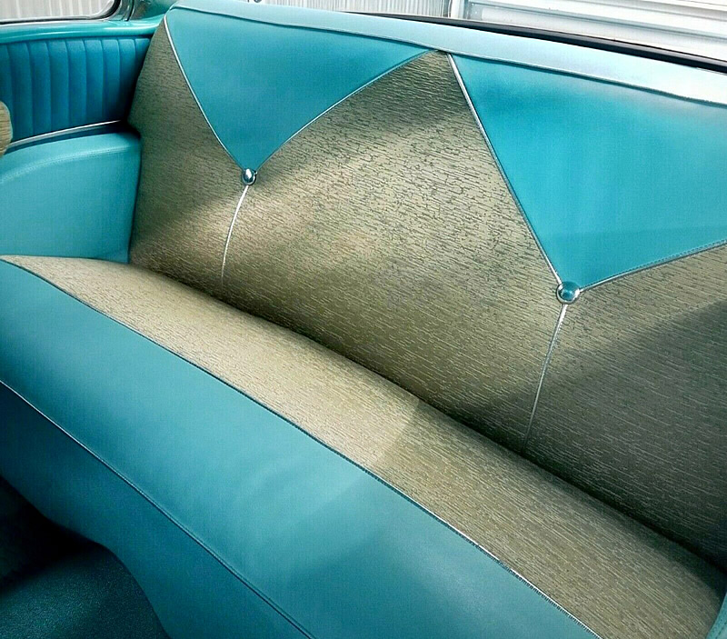 back seats of a 56 Chevy Bel Air