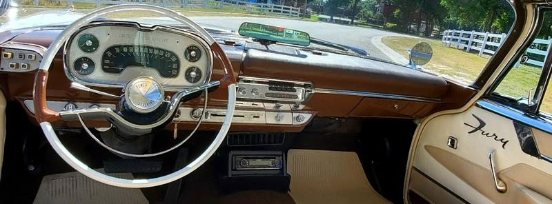 instrument panel / dash of a 57 Fury