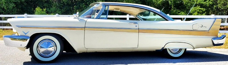 side view of a 1957 Fury