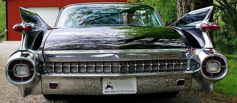 The Iconic tailfins of a 1959 Cadillac
