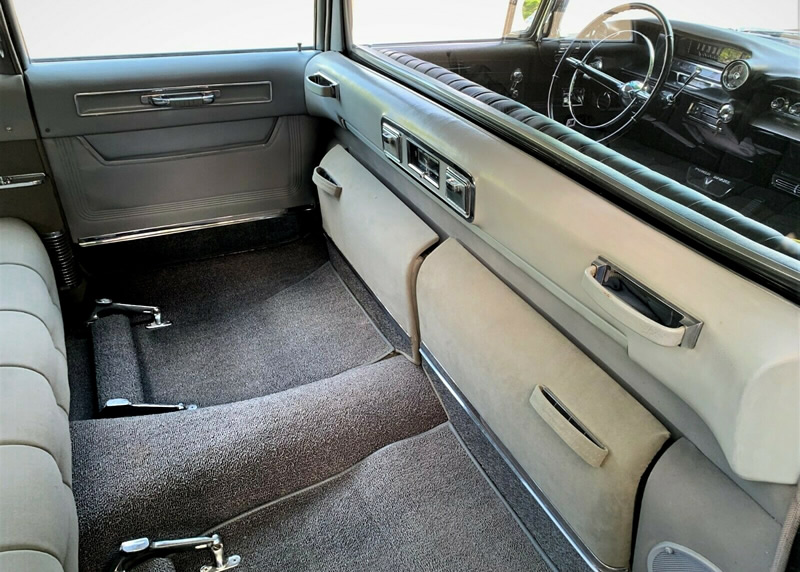 interior of a 59 Fleetwood Limo