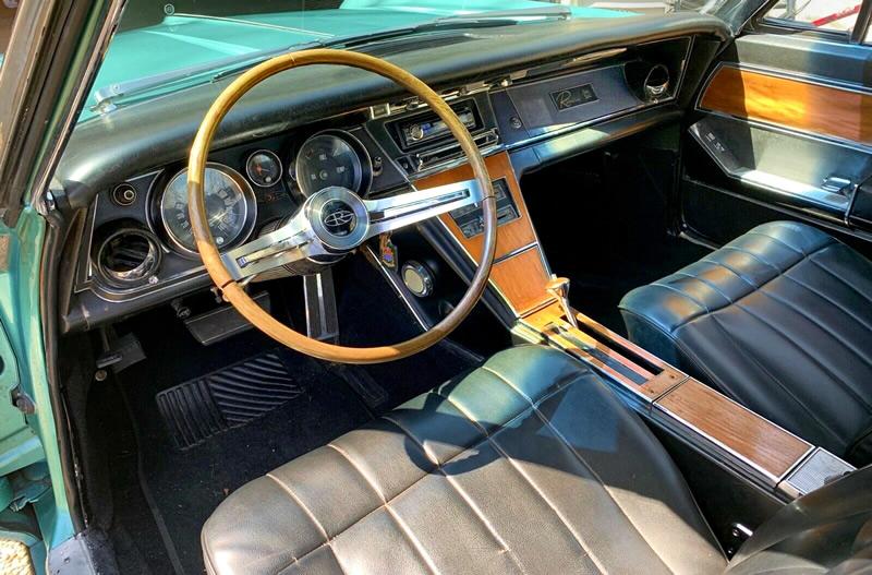 interior shot of a 65 Buick Riviera