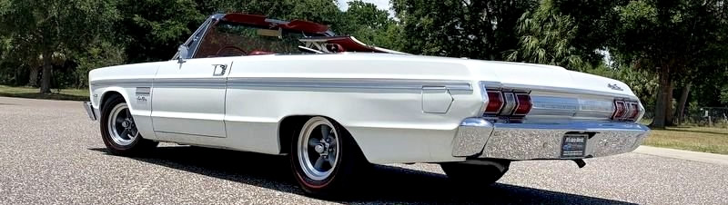 rear view of the 65 Plymouth Sport Fury convertible