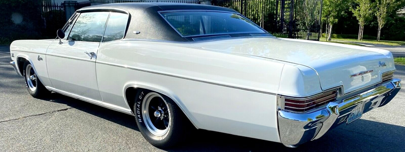 rear view of a 1966 Chevy Caprice coupe