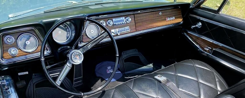 instrument panel of a 1966 Oldsmobile Ninety-Eight