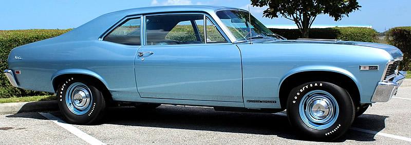 Side view of a 68 Chevrolet Nova SS