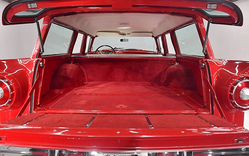 cargo space of a 1957 Country Sedan