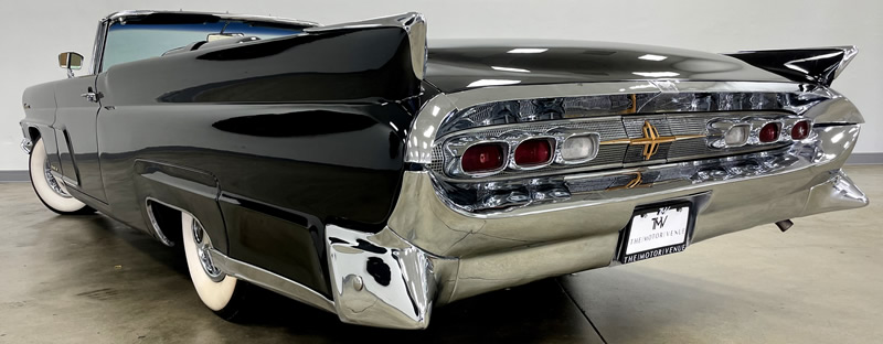 Rear view of a 59 Lincoln Continental convertible