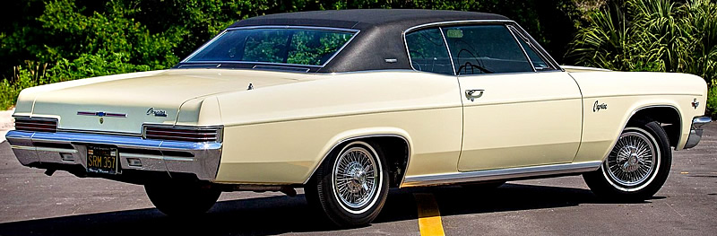rear view of a 66 Chevy Caprice
