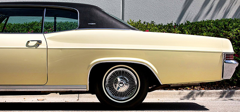 side view of a 66 Caprice showing the roof line