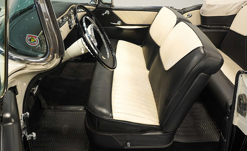 interior of a 1955 Oldsmobile Super Eighty Eight convertible