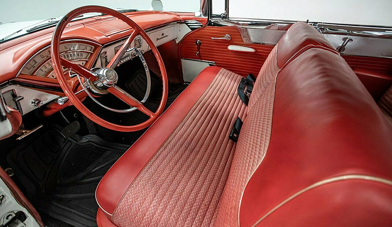 Interior of a 1956 Mercury Montclair coupe