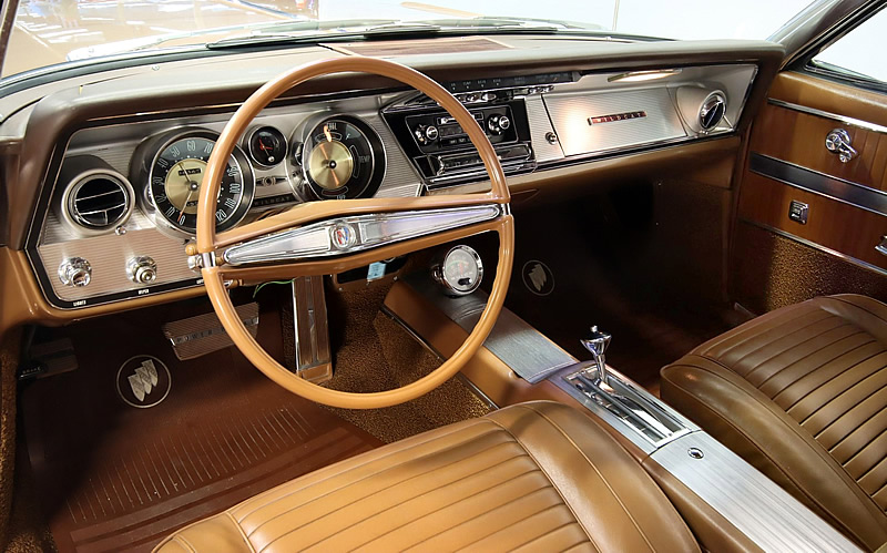 Interior / dash shot of a very nice 63 Buick Wildcat Sports Coupe