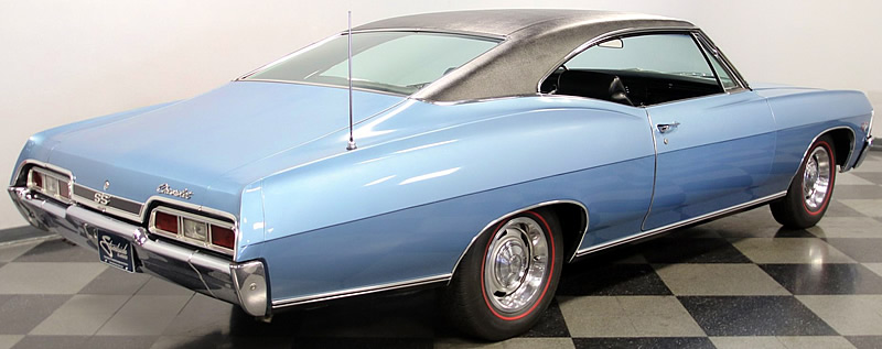 rear view of a 67 SS Impala