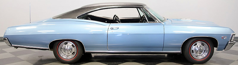 side view of a 67 Chevy Impala SS