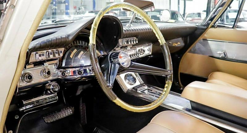 Beautifully designed instrument panel of the 61 Chrysler 300G