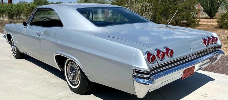 Distinctive Impala taillights on a 1965 model
